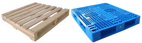 brand new plastic and wood pallets